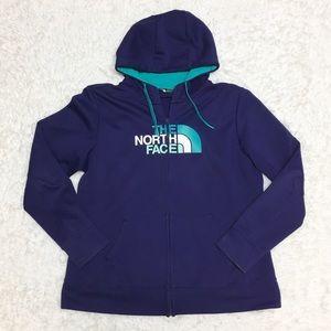 The North Face Purple Full Zip Hoodie 7J